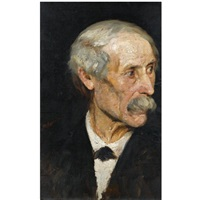 portrait of a man by polychronis lembessis