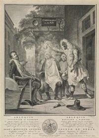 arlequin, magicien & barbier by pieter tanje