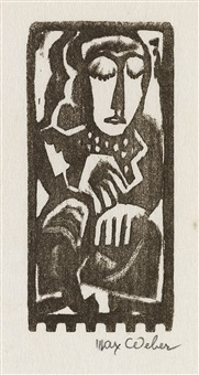seated woman by max weber