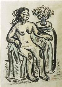 seated nude by ryuzaburo umehara