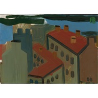 city landscape. rooftops by richard vasmi