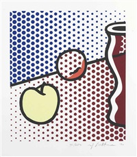 still life with red jar by roy lichtenstein