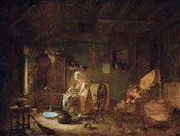 huiselijk tafereel by jacques-albert senave