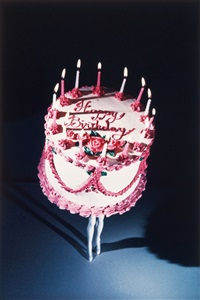 walking cake ii (color) by laurie simmons