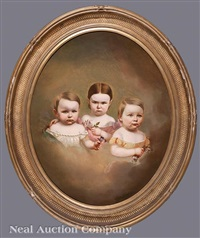 portrait of three children by american school (19)