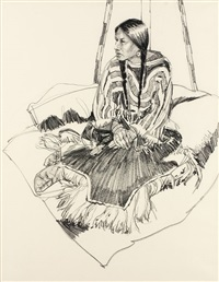 blackfoot woman by hollis williford