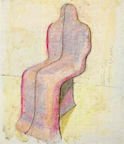 seated storagecapsule for henry moore by bruce nauman