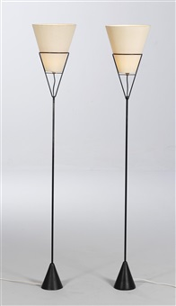 reversible floor lamps, model no. 4105 (pair) by carl auböck