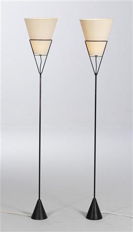 reversible floor lamps, model no. 4105 (pair) by carl auböck
