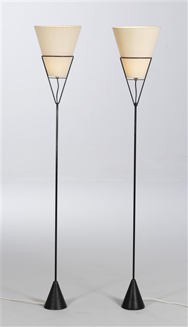 reversible floor lamps model no 4105 pair by carl auböck