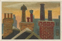 chimneys, holly mount, hampstead (+ 2 others; 3 works) by anne e. christopherson