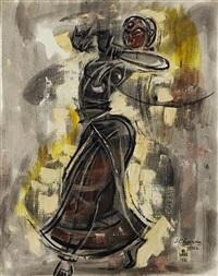 dancing woman by shiavax chavda