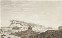 a view of the south side of the fort of gwalior (from select views in india) by william hodges