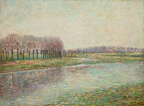 fluss mit weiden by paul baum