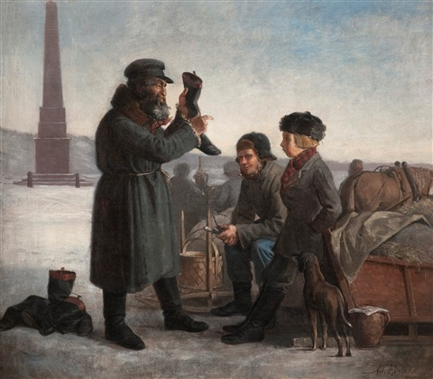 a jew selling boots by albert edelfelt
