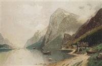 fjordlandschaft by carl bertold