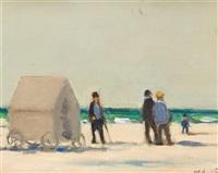 figures on beach by frederick mcduff