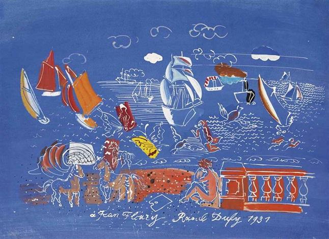 les jeux de la mer by raoul dufy