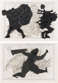 puppet drawing (2 works) by william kentridge
