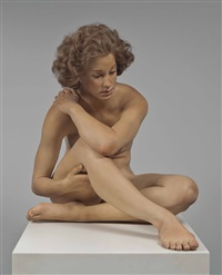 recumbent figure by john deandrea