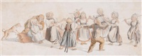 children at play (a pair) by daniel albert freudweiler