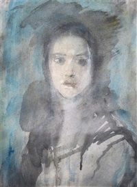 portrait of a young girl by ambrose mcevoy