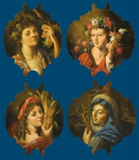 the four seasons (set of 4; various sizes) by angelo caroselli