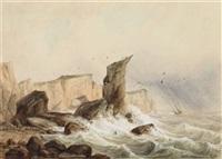 küste von helgoland by august (friedrich a.) reinhardt