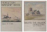 salute the soldier and morston warship week (2 works) by gerald ackermann