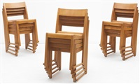suite de douze chaises empilables (set of 12) by sven markelius