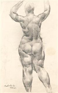 vízözön (study) (+ sketch, verso) by vilmos aba-novák