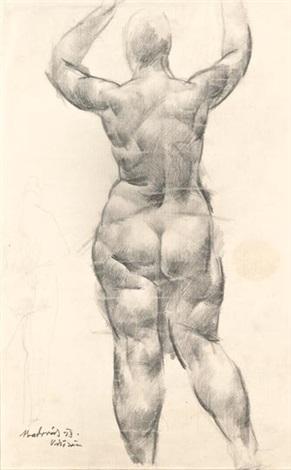 vízözön study sketch verso by vilmos aba novák