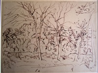 house and trees by william george gillies