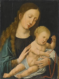 the virgin and child by bernaert (barend) van orley
