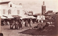 maroc. view from lower soko. lower soko. marché de soko à tanger. deux by james valentine