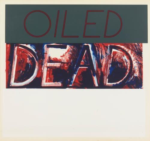 oiled dead by bruce nauman
