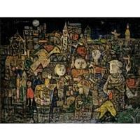 ciudad con personajes by eduardo abela