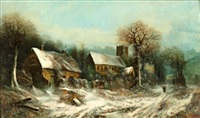 winter landscape by harry foster newey