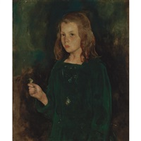 girl in green by charles webster hawthorne