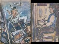 in studio (+ resurrezione, lrgr; 2 works) by rinaldo pigola