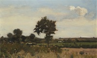 paysage de plaine by josef colla