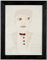 man's portrait by lee godie