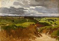 weite landschaft by richard von poschinger