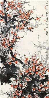 红梅 立轴 纸本 by guan shanyue
