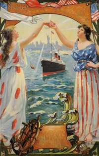 lady liberty leading the way by fernand le quesne