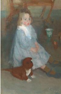 l'enfant au chien (le petit frère maurice) by hippolyte daeye