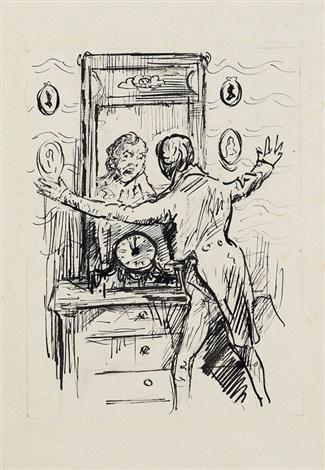 mann vor spiegel by alfred kubin