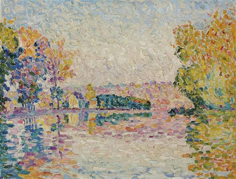 samois etude no 6 by paul signac