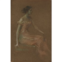 in pink no 11 by thomas wilmer dewing