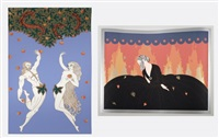 adam and eve; memories (2 works) by erté